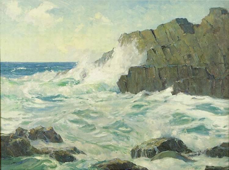 3 - STANLEY WINGATE WOODWARD 1890-1970 LEDGES OFF MONHEGAN, MAINE