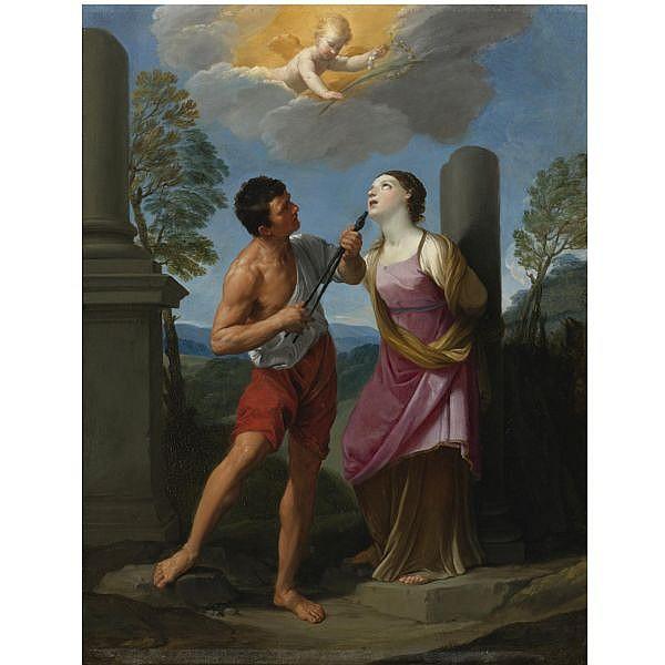 - Guido Reni , Calvenzano di Vergato 1575 - 1642 Bologna The Martyrdom of Saint Apollonia oil on copper