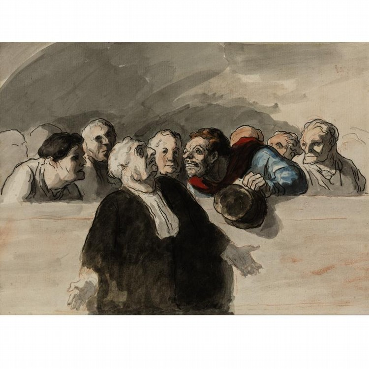 PROPERTY FROM THE ESTATE OF NEHAMA JAGLOM HONORÉ DAUMIER 1808-1879 LE DÉFENSEUR
