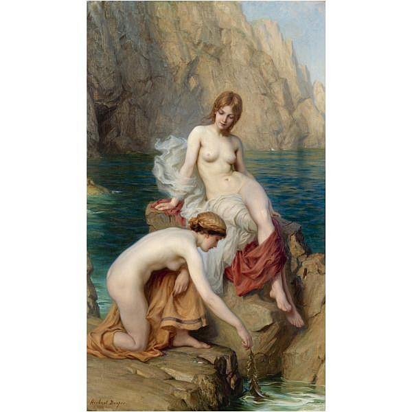 Herbert James Draper , 1863-1920 by summer seas oil on canvas