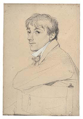*Jean Auguste Dominique Ingres (1780-1867) portrait of jean-louis provost.  Signed and dated: