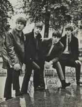 THE BEATLES, PUBLICITY PHOTOGRAPH, C.1964, SIGNED BY ALL FOUR BEATLES