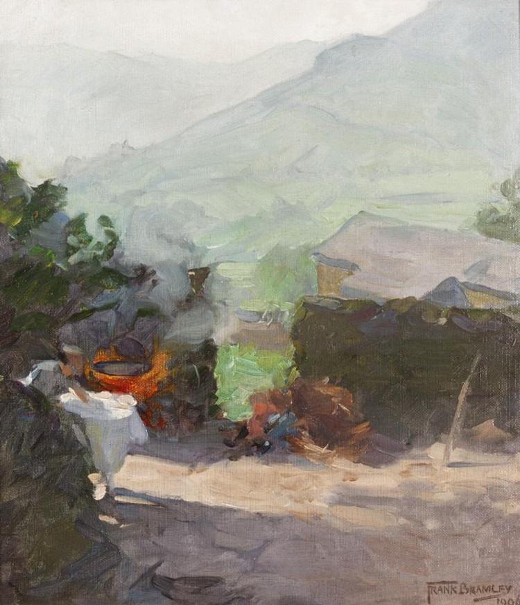 FRANK BRAMLEY, R.A., 1857-1915 THE CAMP