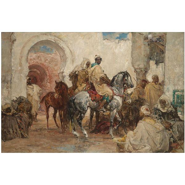 - Henri Rousseau 1875-1933 , Entrée au Village oil on canvas