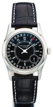 PATEK PHILIPPE | A FINE WHITE GOLD AUTOMATIC WRISTWATCH WITH DATE<br />REF 6000 MVT 3510323 CASE 4326370MADE IN 2006