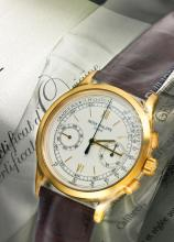 PATEK PHILIPPE | A VERY FINE YELLOW GOLD CHRONOGRAPH WRISTWATCH WITH REGISTER AND PULSATION SCALE<br />REF 5170 MVT 5576511 CASE 4526969MADE IN 2011