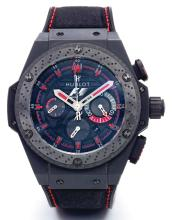HUBLOT | A LIMITED EDITION CERAMIC AUTOMATIC CHRONOGRAPH WRISTWATCH WITH DATE<br />NO 454/500 KING POWER FORMULA ONE CIRCA 2012