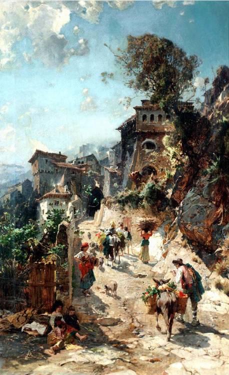 FRANZ THEODORE AERNI, GERMAN 1853-1918