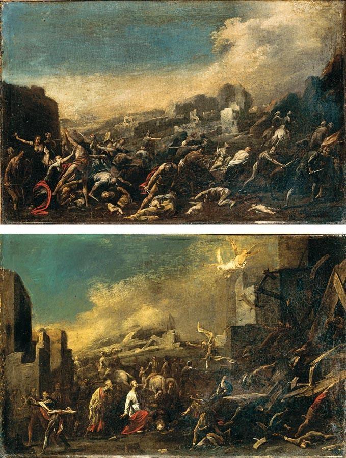 CERCHIA DI JOHANN HEINRICH SCHÖNFELD BIBERACH AN DER RISS 1609 - 1682/3 AUGSBURG STRAGE DEGLI