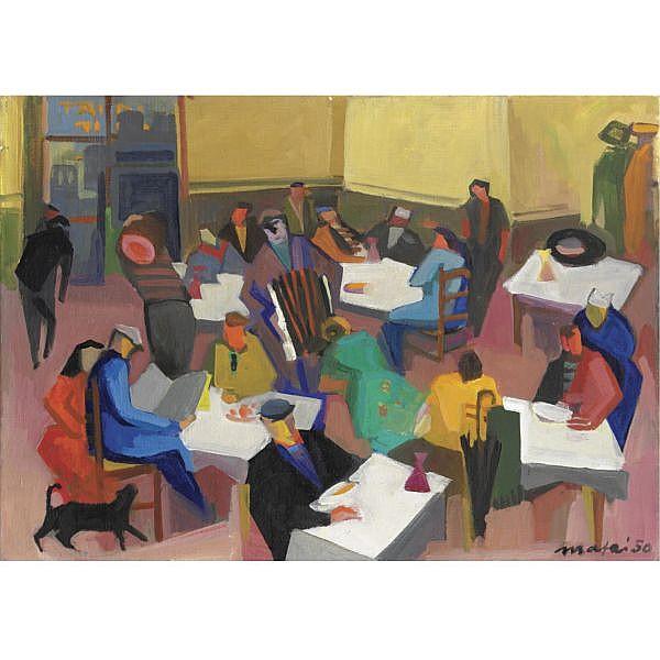 m - Mario Mafai , 1902-1965 Il caffé olio su tela
