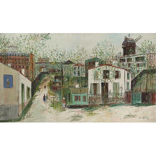 Maurice Utrillo , LE MAQUIS DE MONTMARTRE