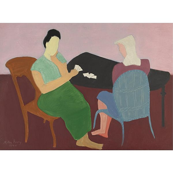 Milton Avery 1885-1965 , Card Game oil on canvas