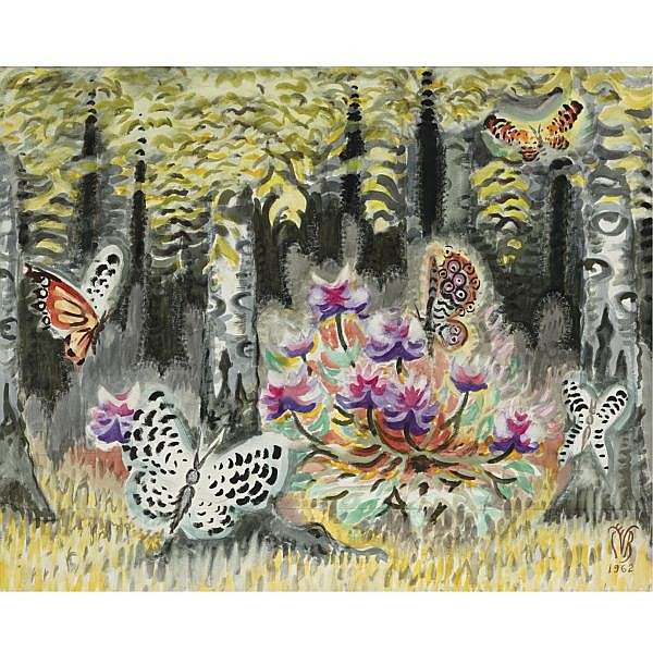 Charles Burchfield 1893-1967 , A Dream of Butterflies watercolor on paper
