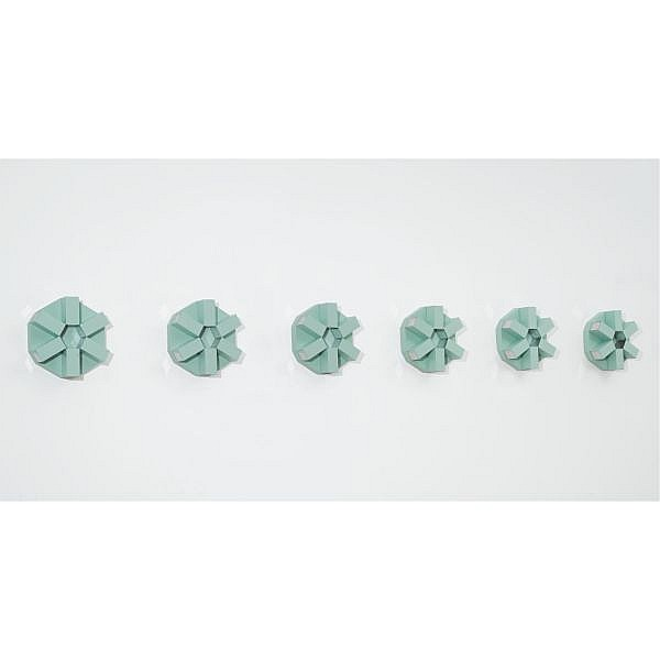 Robert Smithson , 1938-1973 The Cryosphere painted steel with chrome inserts in 6 units