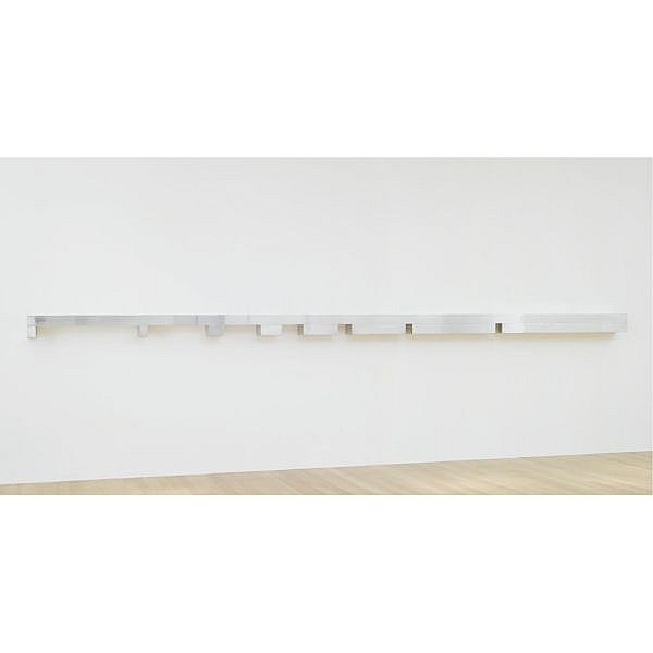 Donald Judd , 1928-1994 Untitled   clear anodized aluminum and brushed aluminum