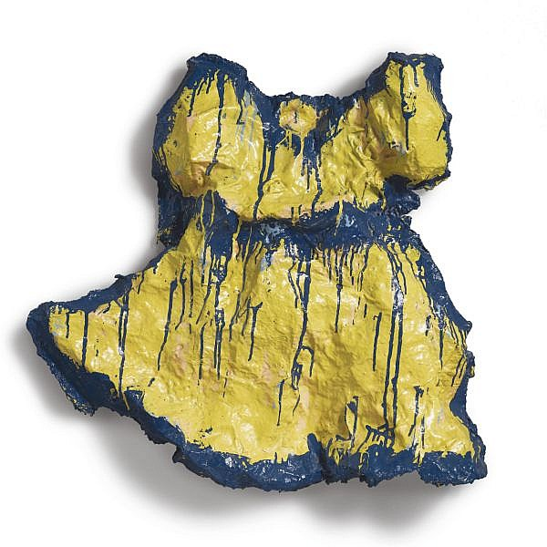 - Claes Oldenburg , b. 1929 Yellow Girl's Dress enamel on plaster over muslin and wire