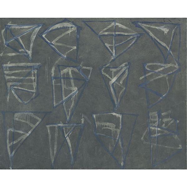 Brice Marden , b. 1938 Glyphs oil on canvas