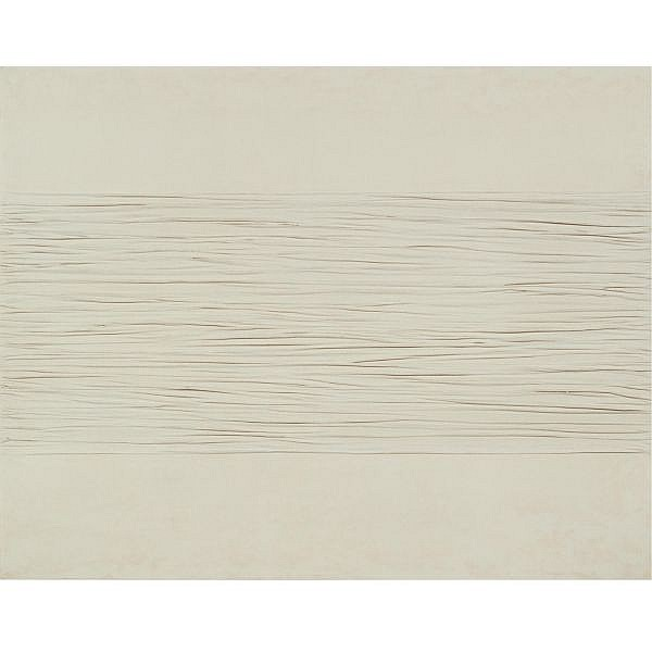 - Piero Manzoni , 1933-1963 Achrome kaolin on folded canvas