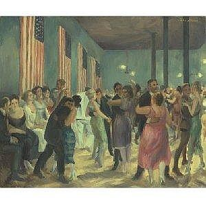 JOHN SLOAN 1871-1951 HOTEL DANCE, SANTA FE Measurements: 20 by 24in. Alternate Measurements: (50.8 by 61 cm) signed John Sloan, u.r.; also titled Hotel Dance in Santa Fe, dated 1919, numbered twice JS #334 and inscribed (Dance at the DeVargas Santa