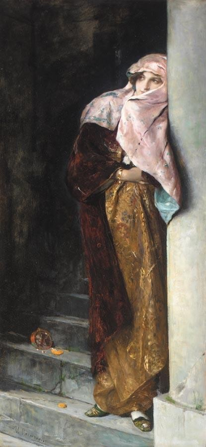 VICENTE PALMAROLI Y GONZÁLEZ SPANISH, 1834-1896 LEAVING THE HAREM