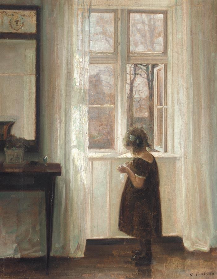 PROPERTY OF CODAN INSURANCE CARL HOLSØE DANISH, 1863-1935 INGA VED VINDUET (INGE BY THE WINDOW)