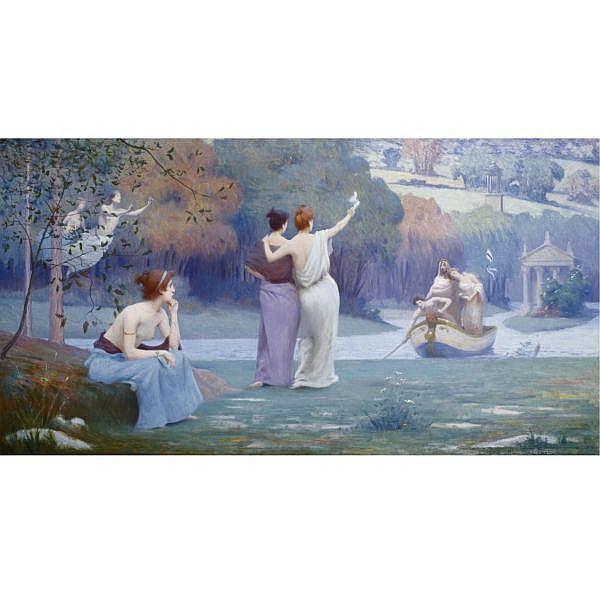 Maurice Chabas 1862 - 1947 , Return to Cythera