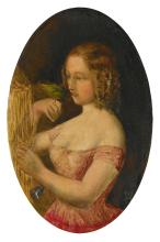 SIR JOHN EVERETT MILLAIS, P.R.A. | A Girl and a Bird