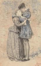 SIR JOHN EVERETT MILLAIS, P.R.A. | Original Study for <em>A Huguenot</em>