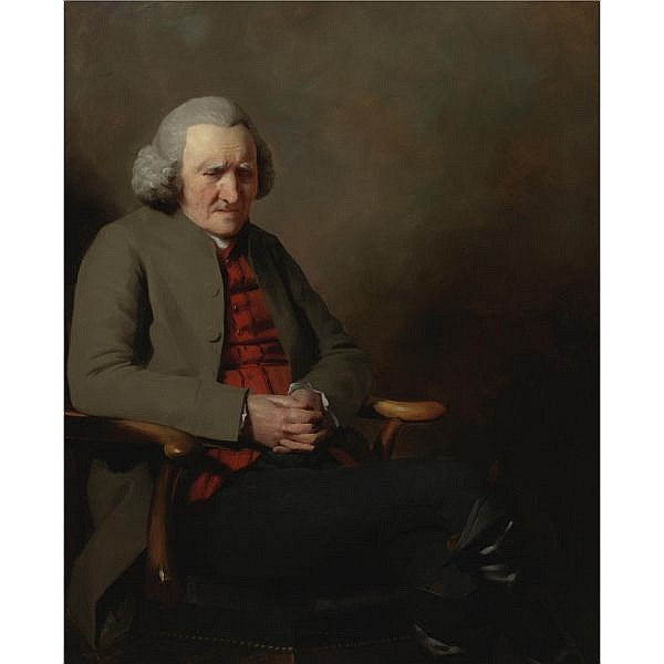 Sir Henry Raeburn R.A., P.R.S.A. , Edinburgh 1756-1823 Portrait of Mr George Abercromby of Tullibody, Clackmannanshire (1705-1800) oil on canvas