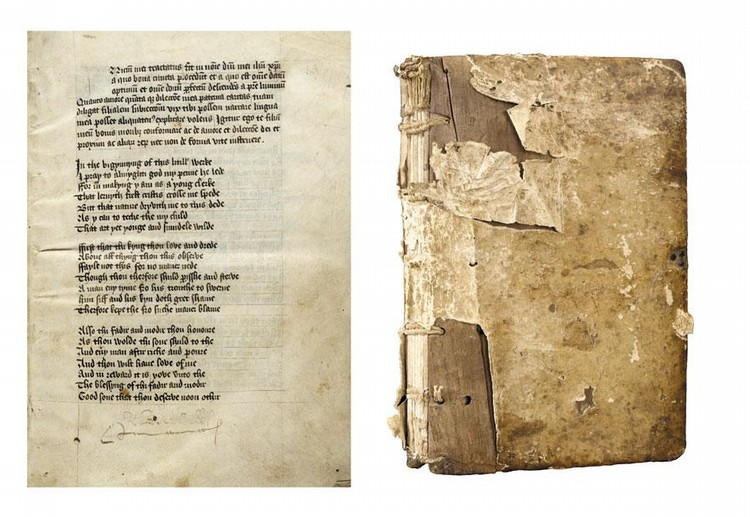 PETER IDLEY, INSTRUCTIONS TO HIS SON, IN MIDDLE ENGLISH VERSE WITH SECTIONS OF LATIN PROSE, MANUSCRIPT ON VELLUM