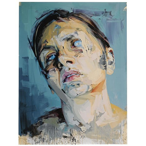 - Jenny Saville , b. 1970 Rosetta 2 oil on paper mounted on board