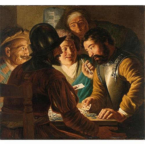 Jan Lievens Leiden 1607 - 1674 Amsterdam , The card players