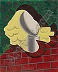f - Man Ray , 1890-1976 PORTRAIT huile sur toile, Man Ray, Click for value