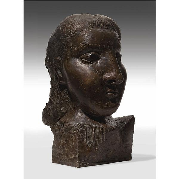 l - Pablo Picasso , 1881-1973 Tête de femme (Dora Maar) Bronze