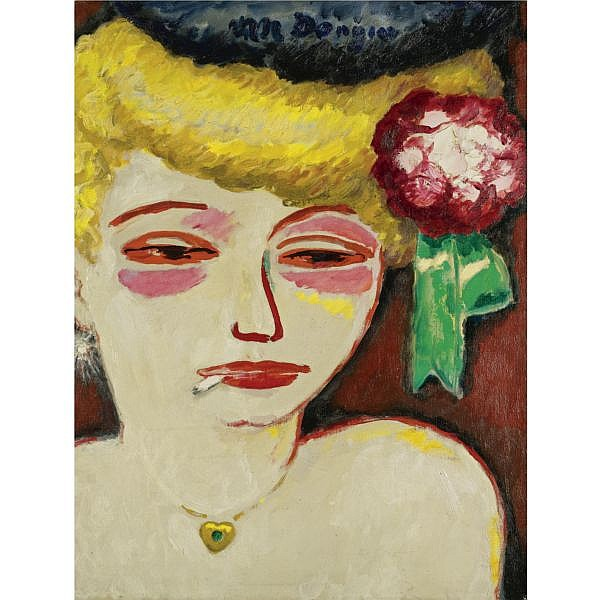 l - Kees van Dongen , 1877- 1968 Femme à la cigarette (CEPUE) Oil on canvas