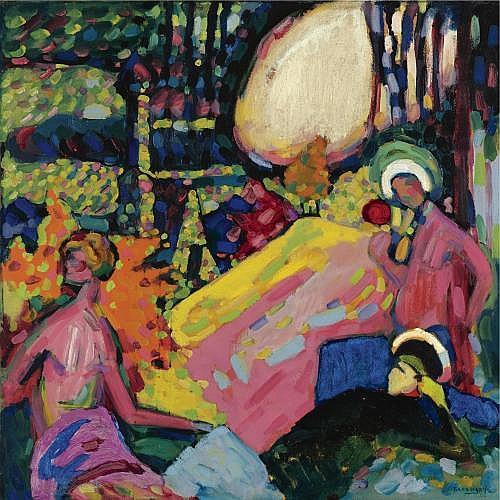 l - Wassily Kandinsky , Weisser Klang (White Sound)
