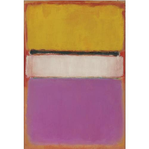 l - Mark Rothko , White Center (Yellow, Pink and Lavender on Rose)