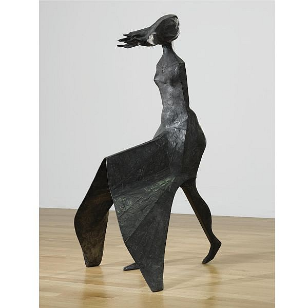 Lynn Chadwick , 1914-2003 High Wind III Bronze, green brown patina