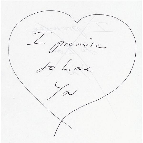 Tracey Emin , b. 1963 I Promise to Love You clear red neon