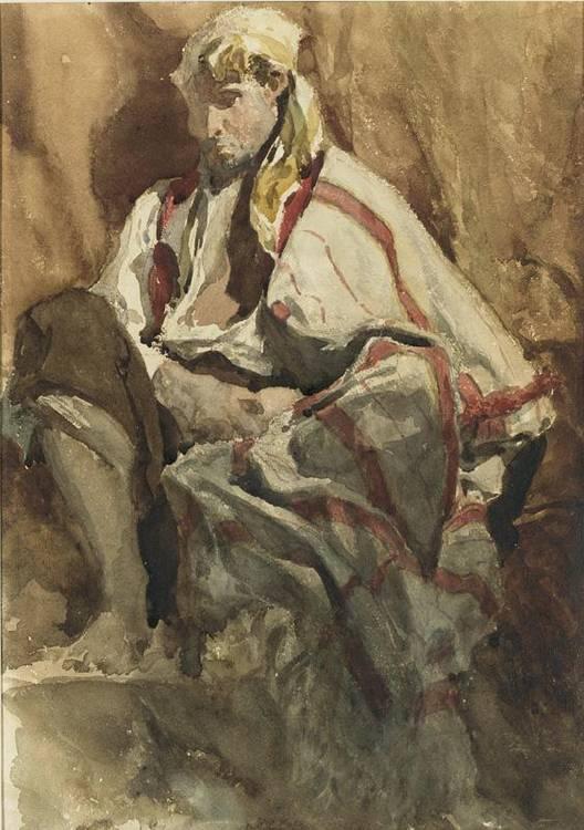 * HENRI-ALEXANDRE-GEORGES REGNAULT FRENCH 1843-1871 HOMME DE PEUPLE À GRENADE