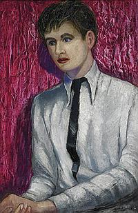 Roy de Maistre 1894-1968 PORTRAIT OF FRANCIS BACON (1935) oil on board