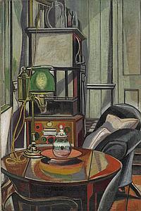 Roy de Maistre 1894-1968 STUDIO INTERIOR oil on canvas
