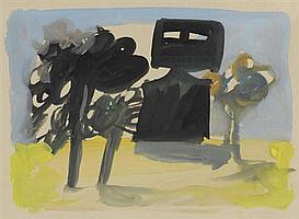 Sidney Nolan 1917-1992 NED KELLY (1946) ink and wash on paper
