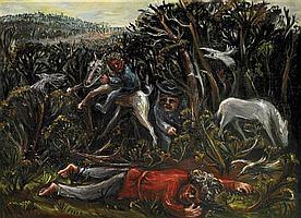 Arthur Boyd 1920-1999 HUNTER III (THE LOST HUNTER) (1944) oil on canvas