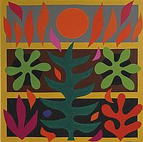 John Coburn 1925-2006 CANTICLE OF THE SUN II 1974 synthetic polymer paint on canvas