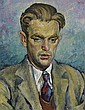 Albert Tucker 1914-1999 PORTRAIT OF ALAN SUMNER 1936 oil on cardboard