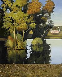 § David Keeling born 1951 AFTER THE RAIN 2010 oil on linen