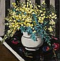 § Margaret Preston 1875-1963 WATTLE 1928 oil on canvas