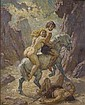 Norman Lindsay 1879-1969 VANQUISHED oil on canvas on board