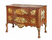 An Italian polychrome painted commode, 18th century